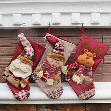 1kpl Eläimet Lumiukot Santa Sukat Christmas Erikois Party, Loma-koristeet Loma Koristeet