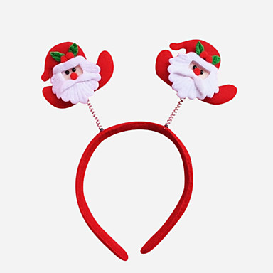 4PCS Christmas Party Cute Santa  Hat Hair Head Band Christmas Decoration