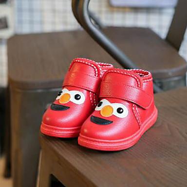 Lapset Tyttöjen Vauvat Bootsit Comfort Talvisaappaat PU Talvi Kausaliteetti Comfort Talvisaappaat Tarranauhalla TasapohjaMusta Punainen
