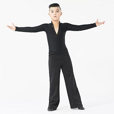 Latin Dans Drakter Ytelse Melkefiber Tvinning Langermet Naturlig Topp / Bukser