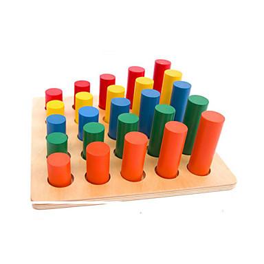 モンテッソーリ教育玩具 数字 / 計算系玩具 知育玩具 おもちゃ 円筒形 エコ 教育 ウッド 子供用 ギフト