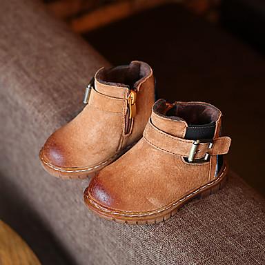 Bootsit-Tasapohja-Poikien-Nahka-Musta Harmaa Keltainen-Rento-Comfort