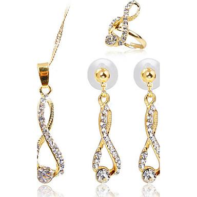 Mujer Diamante sintético Conjunto de joyas - Incluir Dorado Para Fiesta / Diario / Casual / Anillos