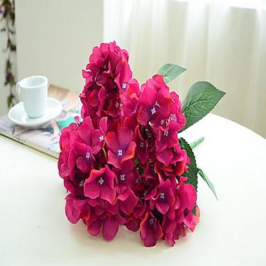 Kunstige blomster 1 Gren Enkel Stil Andre / Planter / Hortensiaer Bordblomst
