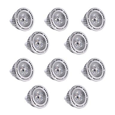 YWXLIGHT® 10pcs 300 lm GU5.3(MR16) LED ضوء سبوت MR16 3 الخرز LED SMD 3030 تخفيت / ديكور أبيض دافئ / أبيض كول 12 V / 10 قطع / بنفايات