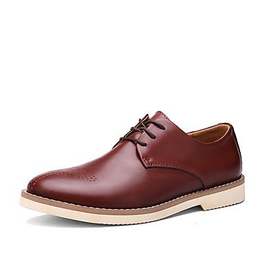 メンズ 靴 レザー コンフォートシューズ オックスフォードシューズ 用途 カジュアル ブラック コーヒー カーキ色