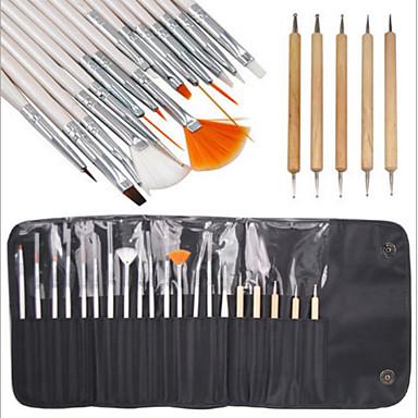 20 Wood håndverk KIT Klassisk Chic & Moderne Nail Art Drill Kit Neglebørster Klassisk Chic & Moderne