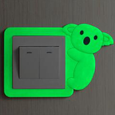 Animais Adesivos de Parede Autocolantes de Parede Luminosos Autocolantes de Parede Decorativos Autocolantes de Interruptores de Luz, Vinil