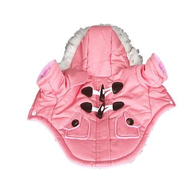 犬 コート パーカー 犬用ウェア ウォーム 保温 純色 ピンク コスチューム ペット用