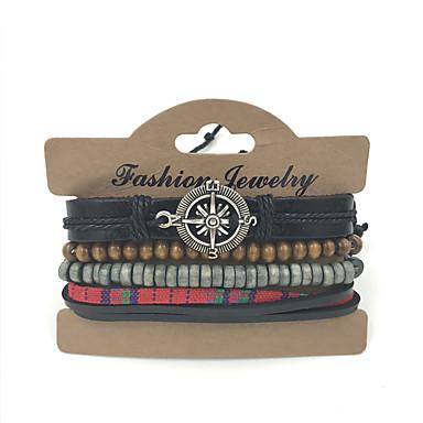 Armbånd Lær Armbånd / Armbånd / vevstol Bracelet Lær Avslappet Smykker Gave Multifarget,1set