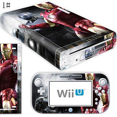 billige Wii U-tilbehør-B-SKIN Audio og Video Klistremerke Til Wii U / Nintendo Wii U ,  Originale Klistremerke PVC / Gummi enhet