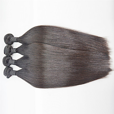 Hiukset kutoo Brasilialainen Straight 6 kuukautta 4 osainen hiukset kutoo