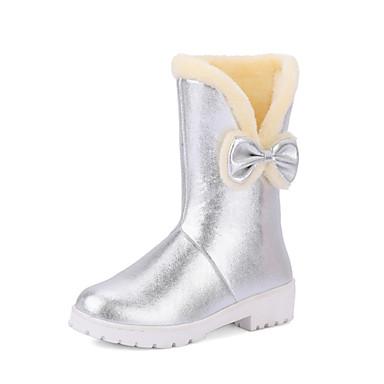 Dame-Glitter Kustomiserte materialer-Tykk hæl Platå-Platå-Støvler-Formell Fritid-Svart Rosa Sølv