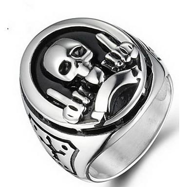 Miesten Sormus Korut Ruostumaton teräs Titaaniteräs Skull shape Korut Käyttötarkoitus Halloween Päivittäin Kausaliteetti