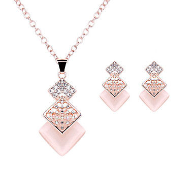 Mulheres Cristal Conjunto de jóias - Imitações de Diamante Luxo, Fashion Incluir Ouro Rose Para Casamento / Festa / Diário