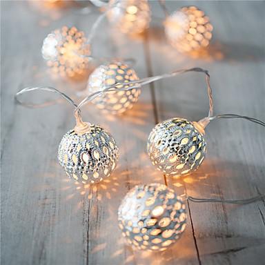 loma valo johti nauhat 20 lamppu pallot / setti johti string hääjuhlissa värivalot joulukoristeita