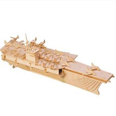 Puslespill Puslespill i tre Byggeklosser DIY leker Hangarskip / Svane 1 Tre Krystall Modell- og byggeleke