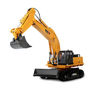 rc car huina 1510 11 channel 2 4g excavator construction. Black Bedroom Furniture Sets. Home Design Ideas