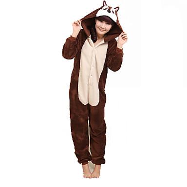 Adults  Kigurumi Pajamas Mouse Chipmunk Animal Onesie Pajamas Coral fleece  Brown Cosplay For Men and Women Animal Sleepwear Cartoon Festival   Holiday  ... cfa35ab1d