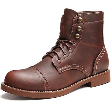 בגדי ריקוד גברים Fashion Boots עור נאפה Leather סתיו / חורף מגפיים מגפונים\מגף קרסול קפה / בָּחוּץ / מגפיי קרב
