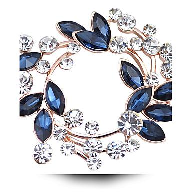 levne Módní brože-Dámské Křišťál Brože Marquise dámy Luxus Na každý den ozdobný Umělé diamanty Rakouský křišťál Brož Šperky Fuchsiová Zlatá Bílá / bílá Pro Svatební Párty Denní Ležérní