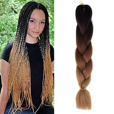 Tresses au Crochet 100% cheveux kanekalon 1 Tresses Jumbo Tresse Natté