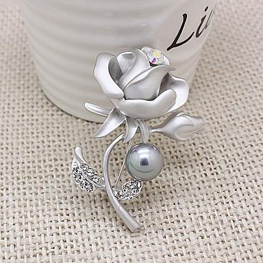 korean nainen metalliseos kukka rintaneula