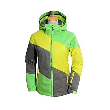 スキージャケット 女性用 スキー ウィンタースポーツ 防水 保温 防風 絶縁 耐久性 高通気性 ポリエステル 冬物ジャケット