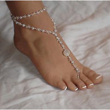 Lag-på-lag Ankel - Perle, Imitert Perle Dainty, Europeisk, Multi Layer Hvit Til Daglig Avslappet Dame
