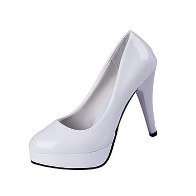 女性用 靴 PUレザー 春 / 秋 ヒール ウォーキング スティレットヒール / プラットフォーム ポインテッドトゥ ブラック / ベージュ / レッド / ドレスシューズ