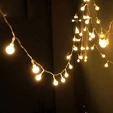 זול תאורה דקורטיבית-4m חוטי תאורה 40 נוריות EL לבן חם Party / דקורטיבי / חתונה סוללות AA 1set