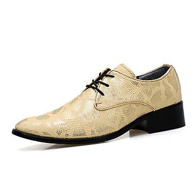 Miehet kengät Nahka Kevät Syksy Talvi Muotisaappaat Oxford-kengät Solmittavat Käyttötarkoitus Kausaliteetti Juhlat Kulta Musta Hopea