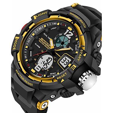 voordelige Herenhorloges-SANDA Heren Sporthorloge Smart horloge Polshorloge Digitaal Japanse quartz Silicone Zwart 30 m Waterbestendig Alarm Chronograaf Analoog-Digitaal Luxe Informeel Modieus - Zwart Rood Blauw Twee jaar