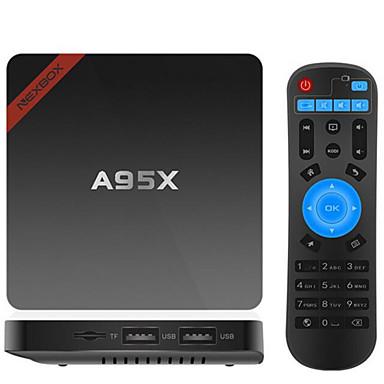 NEXBOX A95X Tv Boks Android6.0 Tv Boks 2GB RAM 16GB ROM Kvadro-Kjerne
