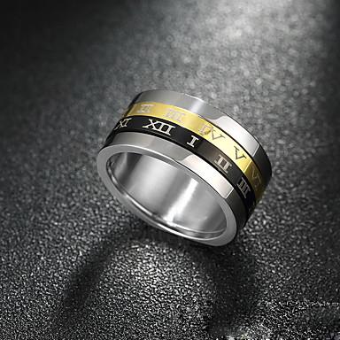 Ring Titanium Stål Sølv Smykker Til Avslappet Sport 1 stk