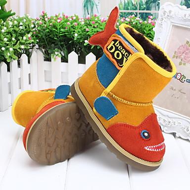 Chico Zapatos Piel Invierno Botas de nieve Botas para Amarillo / Verde