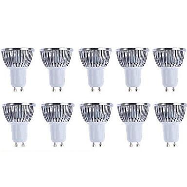 5W 3000/6500lm GU10 Focos LED 4 Cuentas LED COB Regulable Blanco Cálido Blanco 110-130V 220-240V