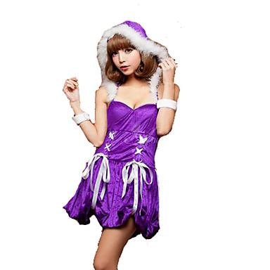 Cosplay Kostumer Festival/høytid Halloween-kostymer Solid Skjørte Jul Kvinnelig Polyester