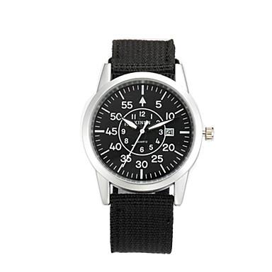 男性用 クォーツ リストウォッチ 軍用腕時計 カレンダー レザー バンド ヴィンテージ カジュアル ファッション クール ブラック ブルー ブラウン グリーン