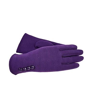 (Merk - lilla) damer mote fire knapper berøringsskjerm hansker for å holde varmen fløyel hanske