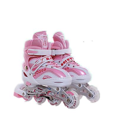 女性用 子供用 成人 インラインスケート アンチスリップ 耐摩耗性 LEDライト 調整可能 レッド/ブルー/ピンク