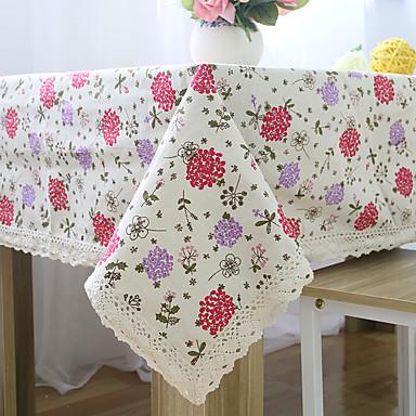 方形 フラワー パターン柄 テーブルクロス , コットンブレンド 材料 ホテルのダイニングテーブル 表Dceoration