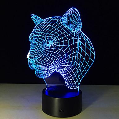 1 Pça. Luz noturna 3D Controlo Remoto / Cores Variáveis / Tamanho Pequeno Artistíco / LED / Moderno / Contemporâneo