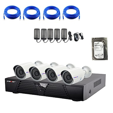 1080P / 적외선 / 방수 및 4 채널 H.264 NVR / 2TB 감시 하드 디스크 콤보 키트와 strongshine®ip 카메라
