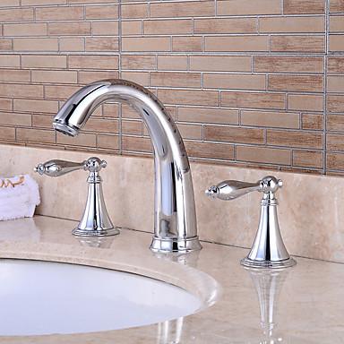 Nykyaikainen Antiikki Art Deco/Retro Amme ja suihku Esihuuhtelusuihku Vesiputous Laajallle ulottuva Keraaminen venttiili Kaksi kahvaa