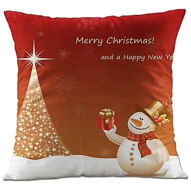 1 個 コットン リネン 枕カバー,休暇 装飾