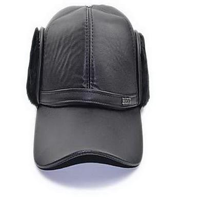 Cap Hatt Hold Varm Bekvem til Baseball Klassisk PU Fløyel