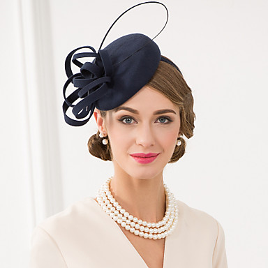 Lã / Pena Fascinadores / Chapéus / Decoração de Cabelo com Floral 1pç Casamento / Ocasião Especial / Casual Capacete