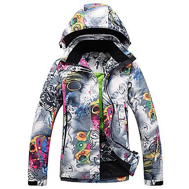 GQY® Damskie Kurtka narciarska Wodoodporny Keep Warm Odporność na wiatr Narciarstwo Sporty zimowe Poliester Kurtka zimowa Odzież narciarska / Zima