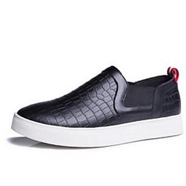 メンズ 靴 レザー コンフォートシューズ ローファー&スリップアドオン 用途 カジュアル ホワイト ブラック